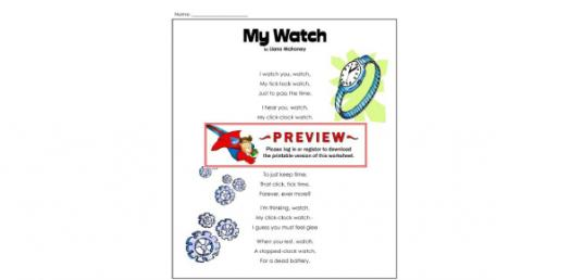 Poem Trivia Quiz On My Watch By Liana Mahoney!