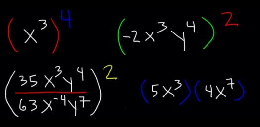 Math Questions: Laws Of Exponents And Algebraic Fractions