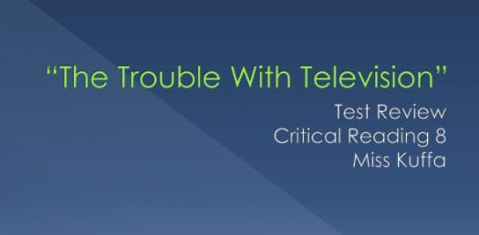 The Trouble With Television Vocabulary