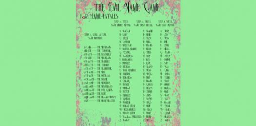 Evil Name Generator! Trivia Questions Quiz