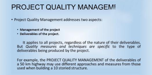 Project Quality Management Practice Test! Quiz