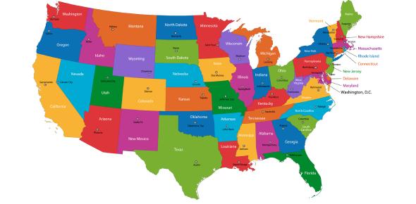 U.S. States And Capitals Quiz Questions!