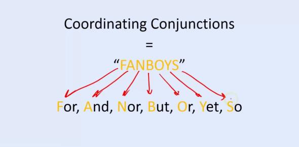Coordinating Conjunctions Test Quiz! Trivia