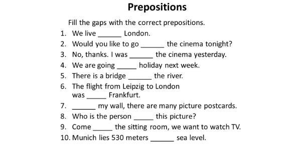 Grammar: Can You Identify The Correct Prepositions? Quiz