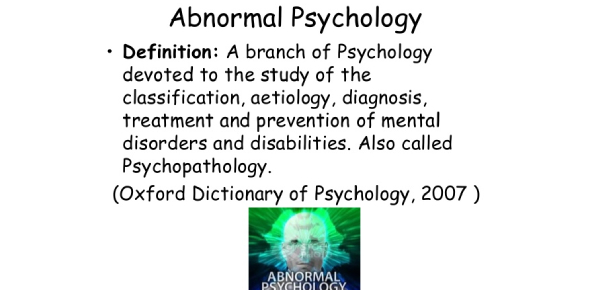 Abnormal Psychology Quiz 2 - Disorders