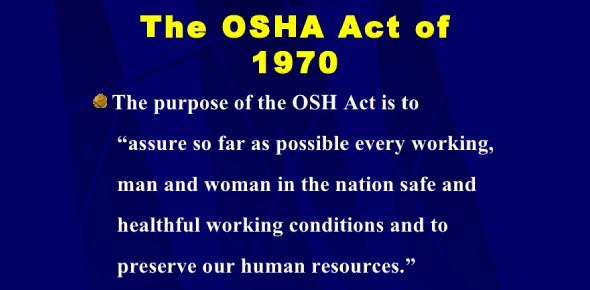 Intro To OSHA Act