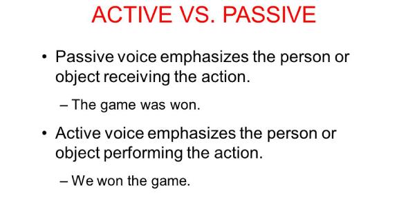 English Grammar Quiz: Active And Passive Sentences