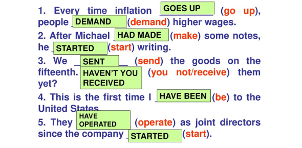 Put The Verb In Brackets In The Correct Tense.
