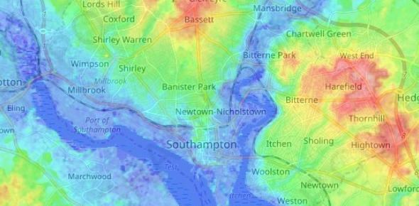 Southampton Topography Quiz! Trivia Questions