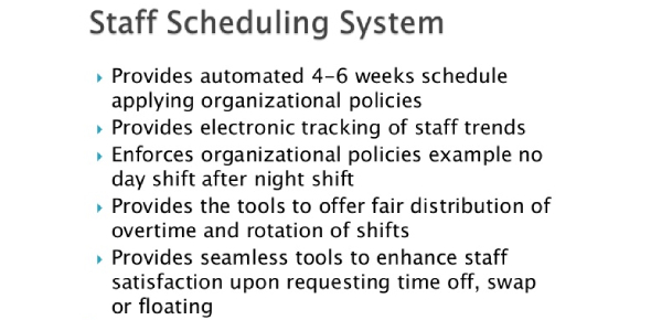 Quiz Over Staffing And Scheduling