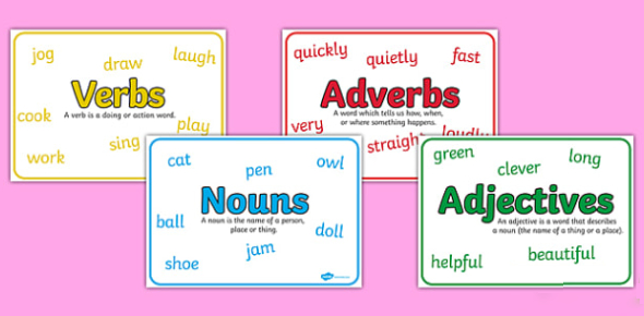 Test Your Knowledge On Nouns, Verbs, Adjectives