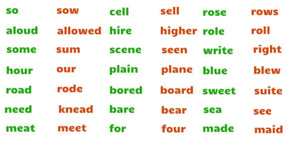 Grade 6 English Homophones Quiz