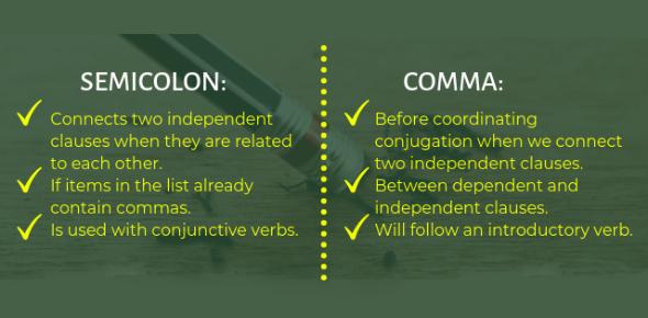 Rules Of Semi Colon And Comma Quiz: Trivia