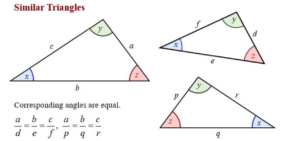 Similar Triangles Math Test! Quiz