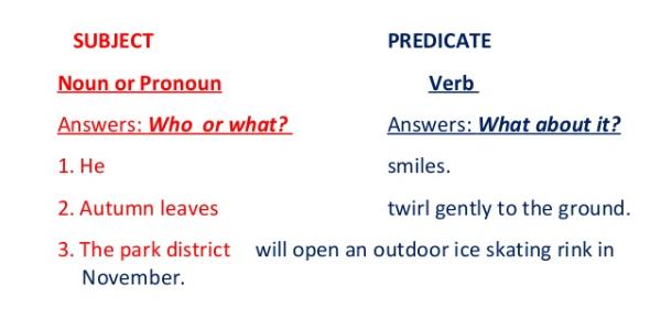 Subject And Predicate Exam: Grammar Quiz