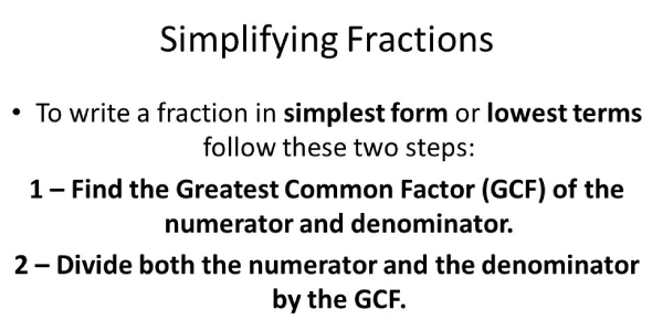 Simplifying Fractions: Math Quiz! Trivia