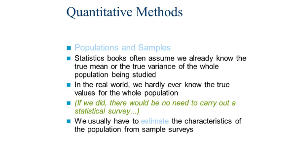 Statistics And Quantitative Methods! Trivia Quiz