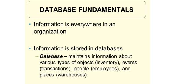 Database Fundamentals 1