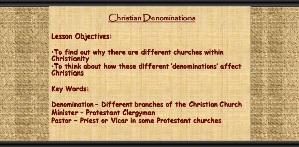 Which Christian Denomination Best Suits You?