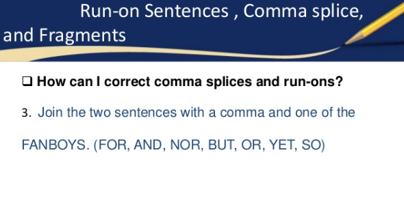 English Grammar Test: Run-ons, Comma Splices, And Fragments
