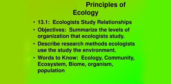 Basic Principles Of Ecology! Trivia Quiz