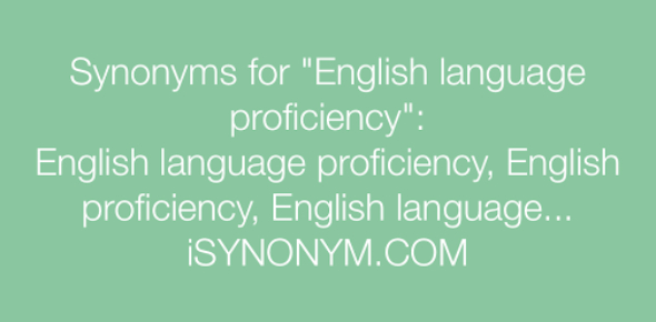 Qualifying Exam For Instructors - Part 1 - Language Proficiency - Synonyms