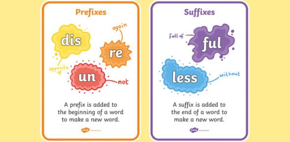 Prefix/Suffix Multiple Choice