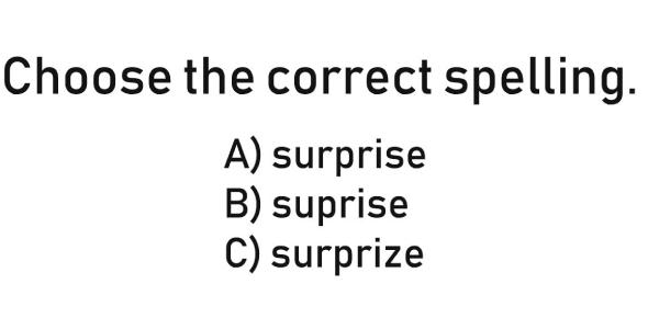 3rd Grade English Grammar Quiz: Identify The Correct Spelling!