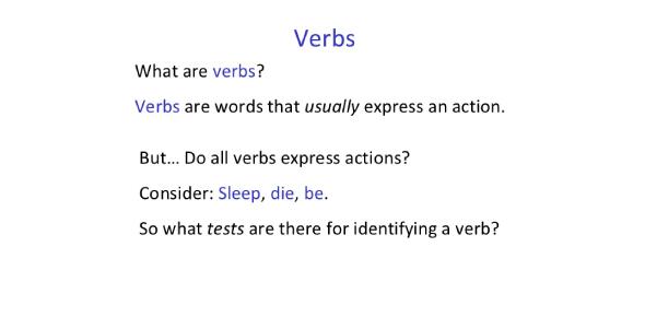 Identify The Verbs In Sentence! Trivia Quiz