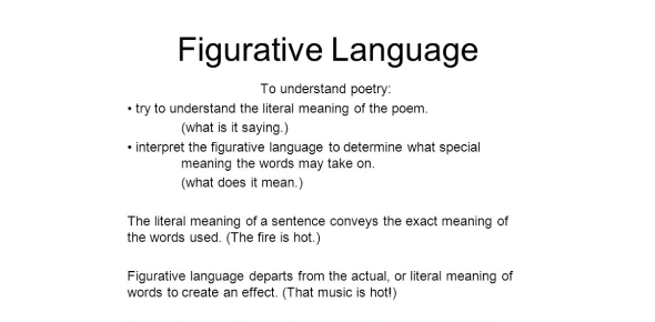 Figurative Language And Poetry Quiz Questions