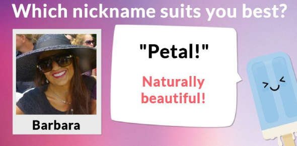 Which Nickname Suits You The Best Quiz