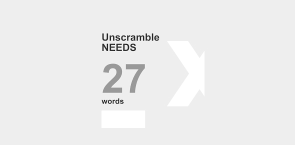 Unscramble Needs