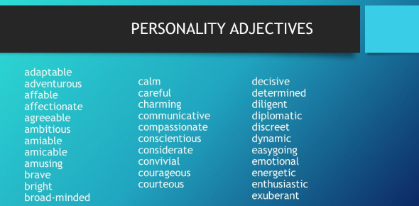 Personality Adjective Quiz