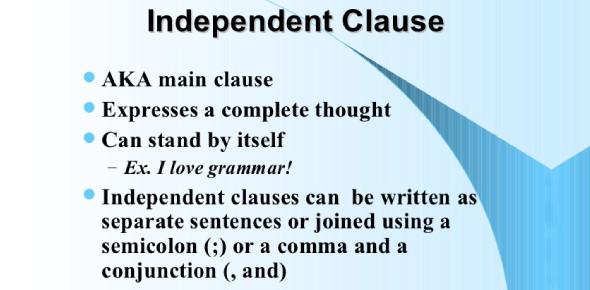 English Grammar Quiz: Independent And Subordinate Clauses