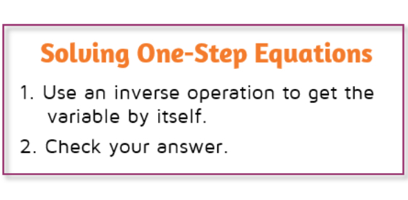 Solving One-step Equations Quiz!