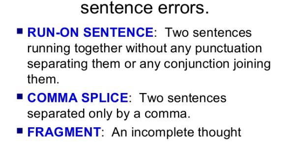 Sentence Error Test! Trivia Quiz