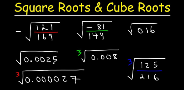 Square And Cube Roots Quiz Questions