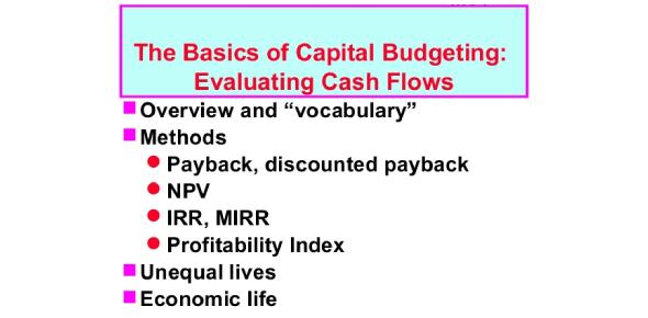 MCQ On Basics Of Capital Budgeting Evaluating Cash Flows