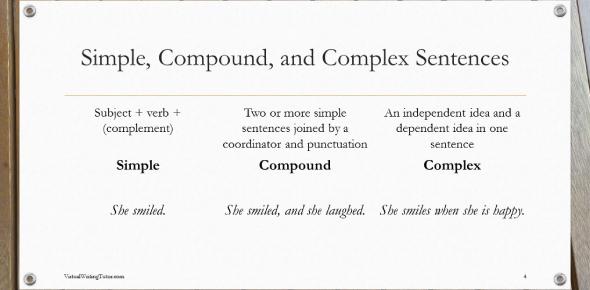 Sentence Types: Simple, Compound Or Complex! Quiz