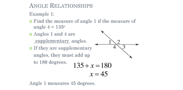 Angle Relationships Quiz Questions