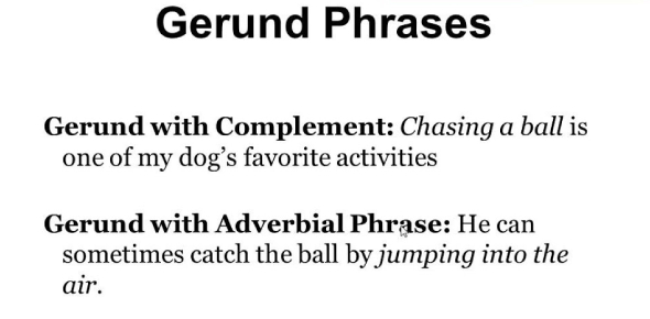 Gerund As Subject Or Object Questions! Trivia Quiz