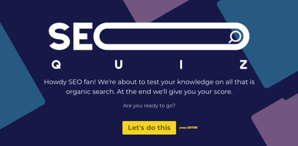 SEO Quiz Challenge: Trivia