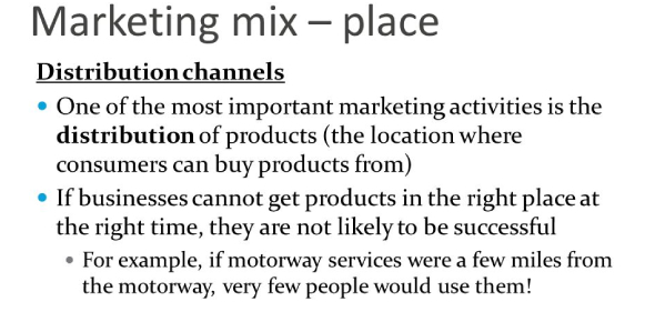 Marketing Mix Place And Distribution Quiz! Trivia