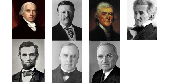 Quiz On The First Seven Presidents Of America