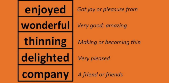 Class 1 - English - Words & Their Meanings
