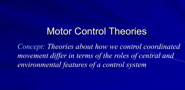 Motor Control Theories And Characteristics! Trivia Quiz