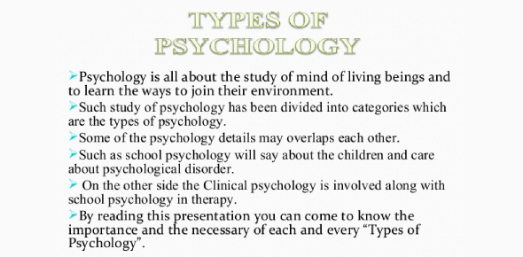 Types Of Psychology?