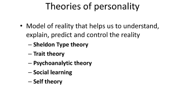 Psychology Quiz On Theories Of Personality!
