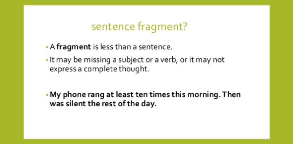 Sentence Fragments Quiz: Trivia Test