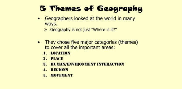 Ultimate Quiz On 5 Themes Of Geography! Trivia
